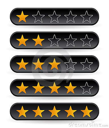 Black rating stars