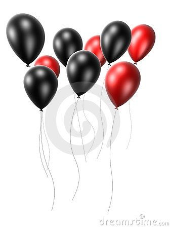 Black and red balloon