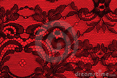 Black And Red Fine Lace Texture Royalty Free Stock Images