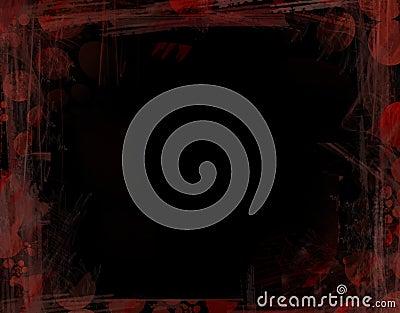 Black And Red Grunge Frame