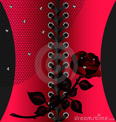 black red lacing with rose
