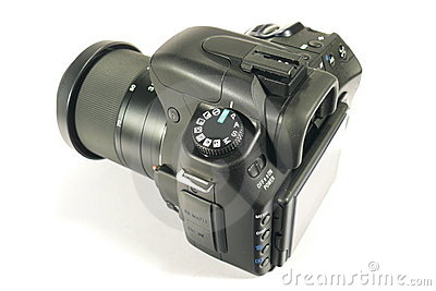Black reflex digital camera