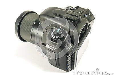 Black reflex digital camera