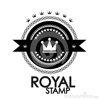 Black retro vintage label | tag | badge | royal