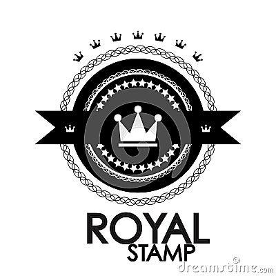 Black retro vintage label | tag | badge | royal