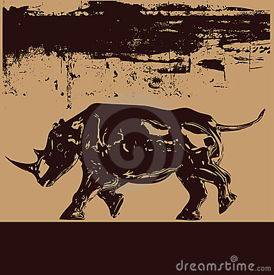 Free Black Rhino Background Stock Photo - 9089220