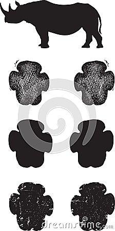 Black Rhino tracks or footprints