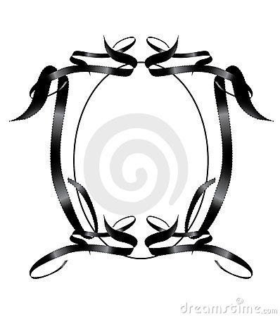Black Ribbon Frame Element