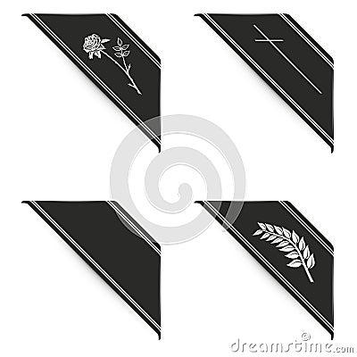 Free Black Ribbon Set Stock Photos - 66513553