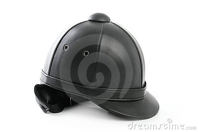 Black ridding cap for horse riders