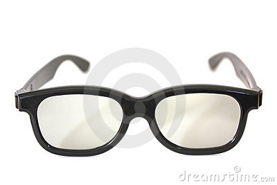 Black rimmed glasses isolated