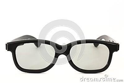 Black rimmed glasses isolated