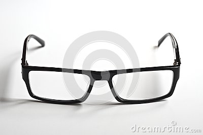 Black rimmed reading glasses