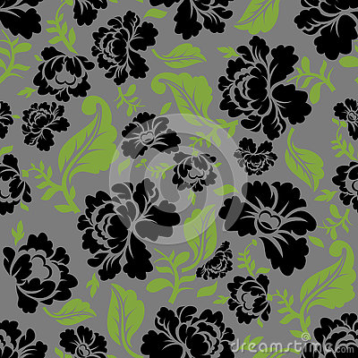 Free Black Rose Seamless Pattern. Retro Floral Texture. Royalty Free Stock Image - 73220796