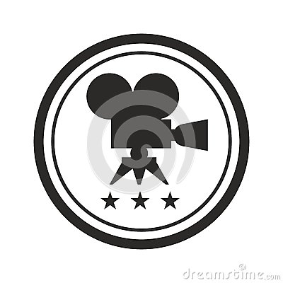 Black round film award Vector Illustration