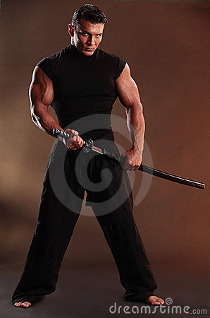 Free Black Samurai Stock Photography - 15404102