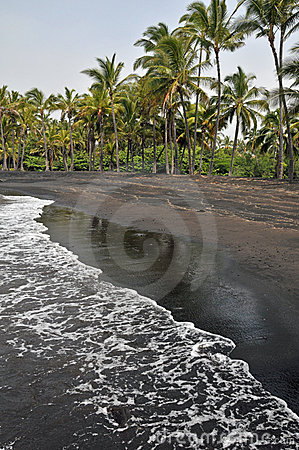 Black Sand Beach on the Island
