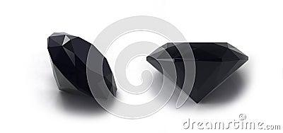 Black sapphire gems