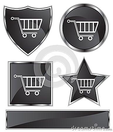 Black Satin - Shopping Cart