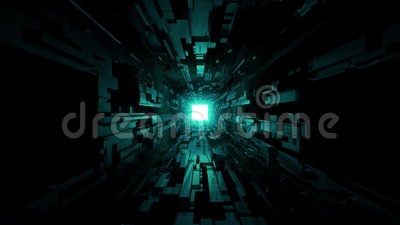 Black Scifi Space Tunnel Background Wallpaper With Nice Glow 3d Rendering Vjloop Concept Motiondesign