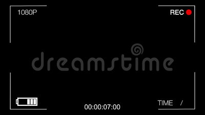 Black screen CCTV camera,time goes forward Stock Photo