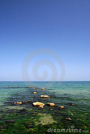 Black sea beach