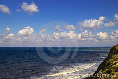 Black sea and clouds