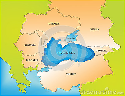 Black sea countries map