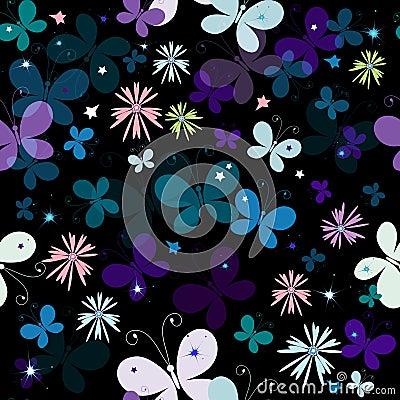 Free Black  Seamless Pattern Royalty Free Stock Photography - 14076937