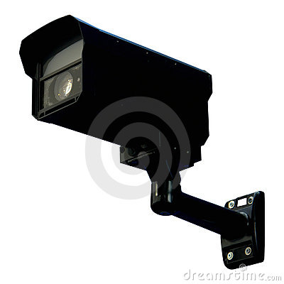 Black security monitor