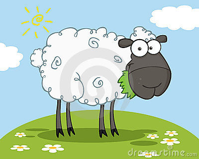 Black sheep cartoon character