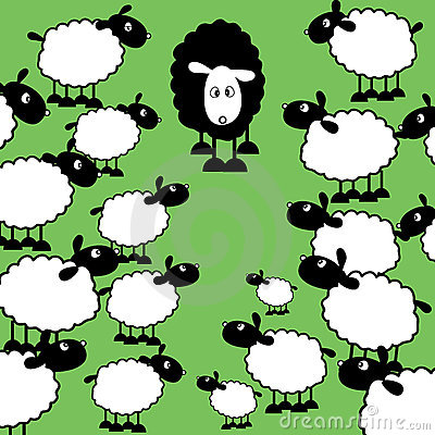 Free Black Sheep Of The Family Royalty Free Stock Images - 574209