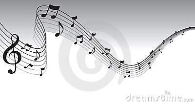 Black Sheet Music Page Border Vector Illustration