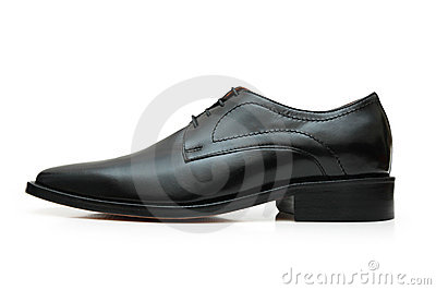 Black shoe isolated