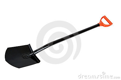 Black shovel isolated on white