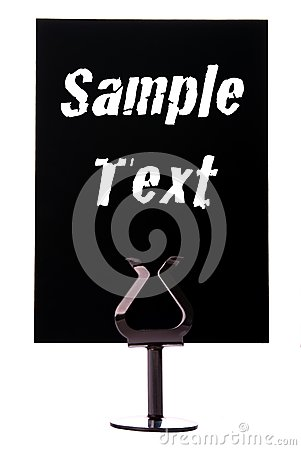 Black sign with space for text