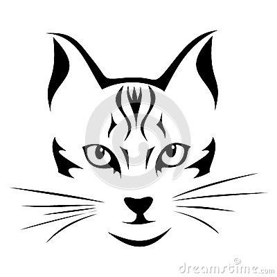 black silhouette  cat vector stock photo image