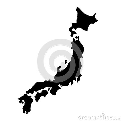 Free Black Silhouette Country Borders Map Of Japan On White Background Of Vector Illustration Royalty Free Stock Images - 106526889