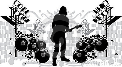 Black Silhouette Guitarist
