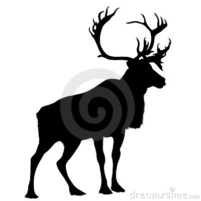 Free Black Silhouette Stag Royalty Free Stock Photo - 7993275