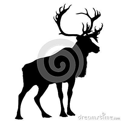 Black silhouette stag