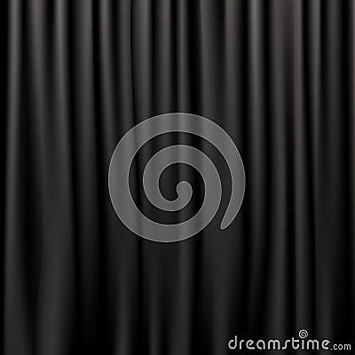 Black Silk Curtains