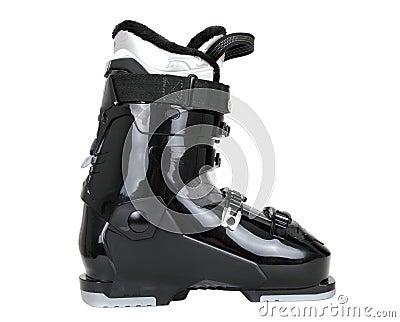Black ski boot