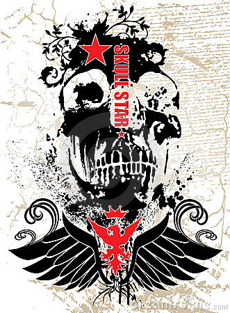 Free Black Skull Royalty Free Stock Images - 3838519