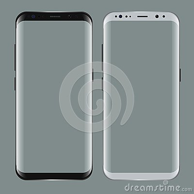 Free Black Smartphone With Blank Screen. Realistic 3d Mockup For Showcase Your App Projects. Royalty Free Stock Photo - 99758945