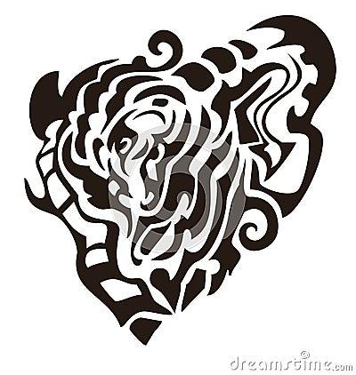 Black snake heart