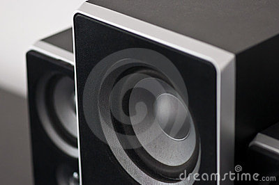 Black sound speakers