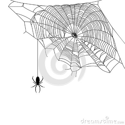 Free Black Spider And Web Stock Images - 126008154