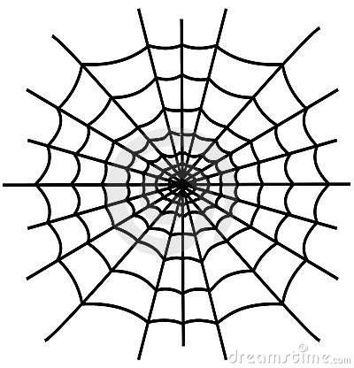 Black spiderweb isolated