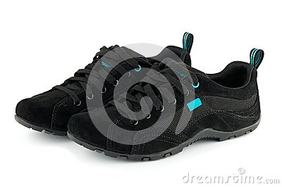 Black sport shoes isolated